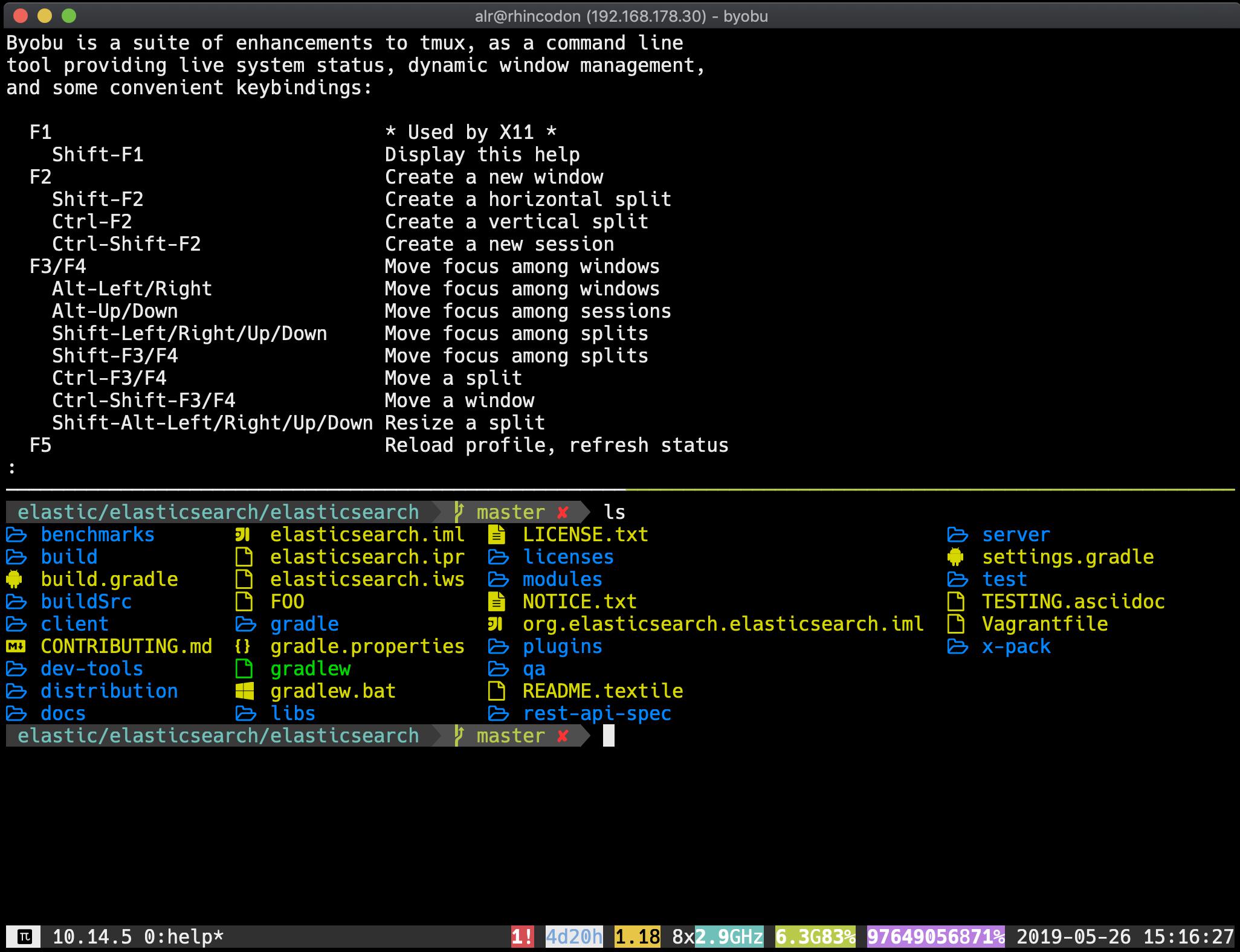 Creating a productive terminal environment