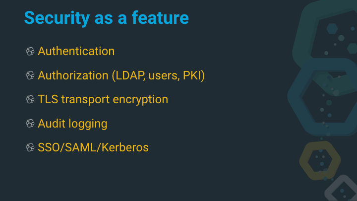 Security as a feature