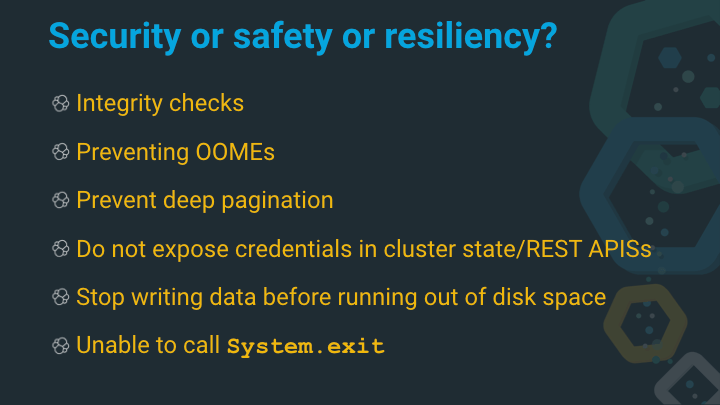 Security or safety or resiliency