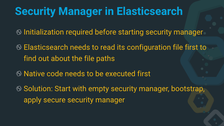 Elasticsearch and the Security Manager